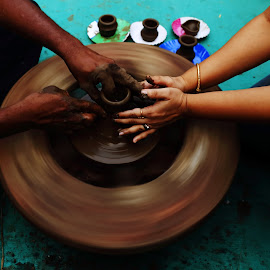 pot making by Vivek Raut - People Street & Candids ( clay, mud, potter, pottery, pot )