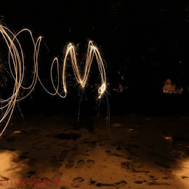 M's spark  by Madison Apostoliuk - Abstract Light Painting ( light painting, sparkly, night, m, spark, letter m, painting, light, sparklers )