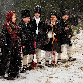 Christmas Carols by Alina Murgu - Public Holidays Christmas ( winter, snow, christmas, children, carols, happy snowy experience )