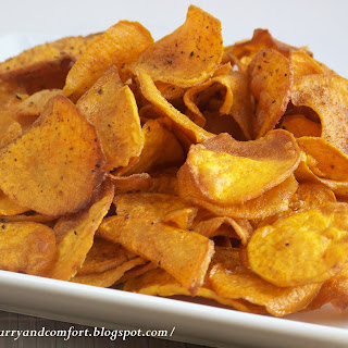 Spicy Sweet Potato Chips