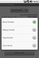 Screenshot of Kredi Hesaplama
