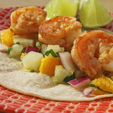 Tequila Lime Shrimp Tacos With Orange Jicama Salsa