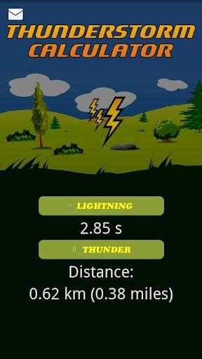 Thunderstorm calculator
