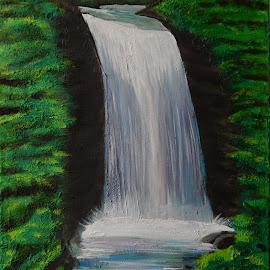 by Nietu PM - Painting All Painting ( water, beautiful waterfall, waterfall, original, acrylic )