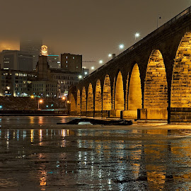 Stone Arch Bridge over the Mississippi River by Mike Woodard - City,  Street & Park  Historic Districts (  )