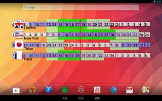 Screenshot of World Clock Widget