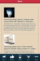 Screenshot of Samsung Galaxy Note REVIEW