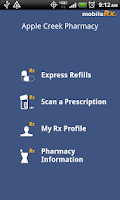 Screenshot of mobileRx Pharmacy
