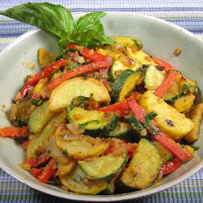 Savory Squash & Red Pepper Medley