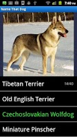 Screenshot of Dog Breeds