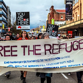 by Saichu Anwar - News & Events Politics ( refugees, walk together )