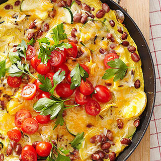Rice and Bean Frittata