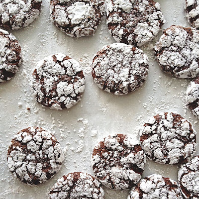 Peppermint Crinkle Cookies