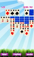Screenshot of Solitaire Game