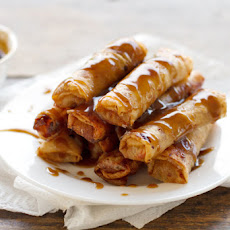 Banana Lumpia {Turon} with Coconut Caramel Sauce