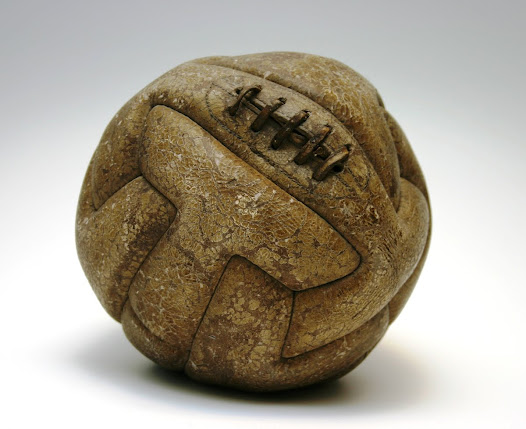 """""""Old leather, tough old laces...this is the kind of ball you would have used at the very top level..."""" David Goldblatt, Football Writer"""