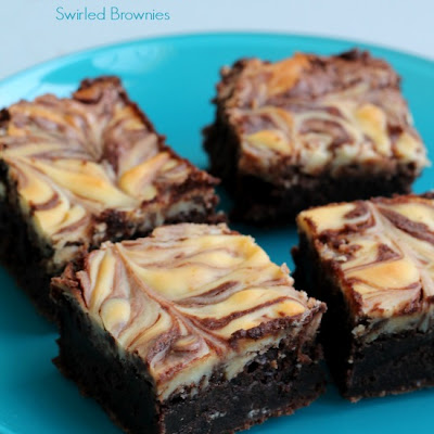 Almond Cheesecake Swirled Brownies