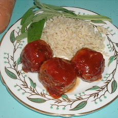 Sweet & Sour Chicken Balls With Brown Rice