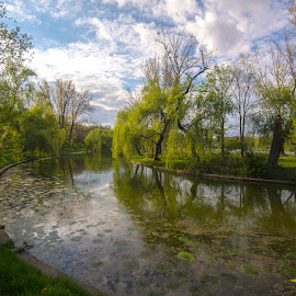 Bucharest landscape by Bogdan Lupas - City,  Street & Park  City Parks ( water, park, speing, trees, lake,  )