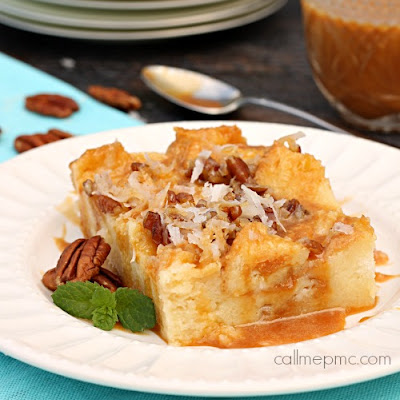 Caramel & Coconut Cream Bread Pudding
