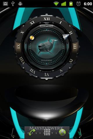 玩免費娛樂APP|下載美麗的海豚時鐘 app不用錢|硬是要APP