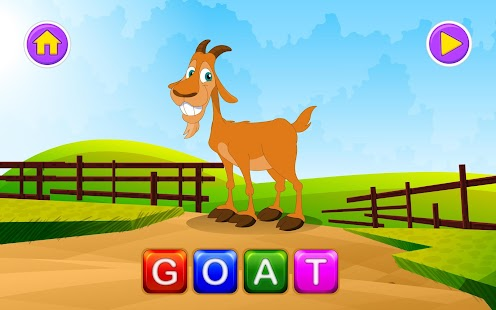 English Learn Spelling-Animals - screenshot