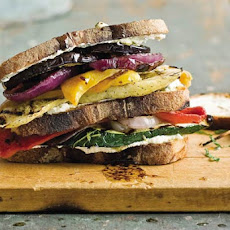 Grilled Vegetable and Goat Cheese Sandwiches