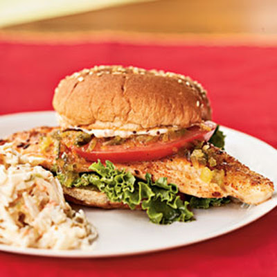 Catfish Sandwiches with Creole Mayonnaise