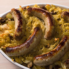 Bockwurst and Mushroom Noodle Bake Recipe