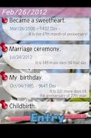 Screenshot of Anniversary Checker