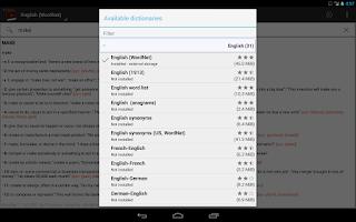 Screenshot of Offline dictionaries pro