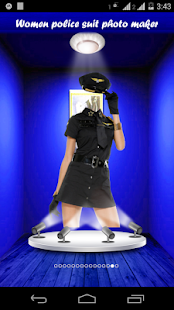 Women police suit photo maker - screenshot