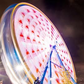 OKC State Fair Ferris Wheel by Brian Biggs - City,  Street & Park  Amusement Parks ( okc, rides, oklahoma, state fair, ferris wheel )