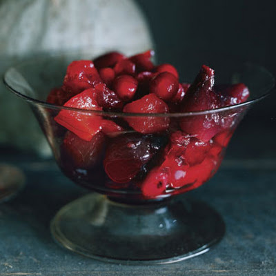 Cranberry, Quince, and Pearl Onion Compote