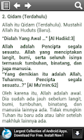 Screenshot of Sifat Wajib dan Mustahil Allah