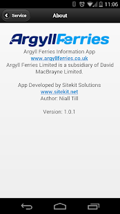 Argyll Ferries Status - screenshot