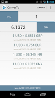 Screenshot of ConverTo - Free Currency Conv