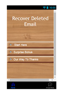 Recover Deleted Email Guide - screenshot