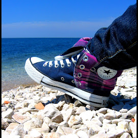 all star by Nina Kriznic - Artistic Objects Clothing & Accessories ( shoes, all star, fashion, clothing, sea, beach, sneakers,  )