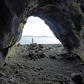 The Cave by Fokion Zissiadis - Landscapes Caves & Formations ( cave landscape skorradalsvatn iceland )