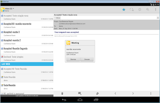 Mobile Access For Outlook OWA APK screenshot thumbnail 9