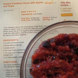 Superb Cranberry Sauce with Apples and Pears