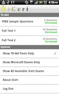 Screenshot of iCert Practice Exam - Network+