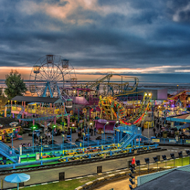 Sea shore fair by Nizam Akanjee - City,  Street & Park  Amusement Parks ( southend on sea, sea shore fair,  )
