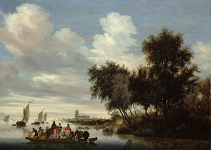 RIJKS: Salomon van Ruysdael: River Landscape with Ferry 1649