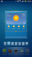 Screenshot of BGweather