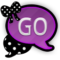 GO SMS THEME/PurplePolkaDots icon