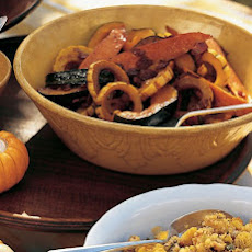 Glazed Squashes and Sweet Potato