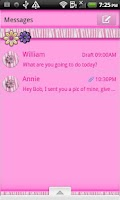 Screenshot of GO SMS THEME/PinkZebra4U
