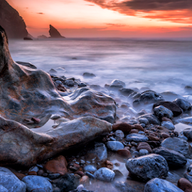 untitled by Tiago Barbas - Landscapes Beaches ( sintra adraga portugal sunset )